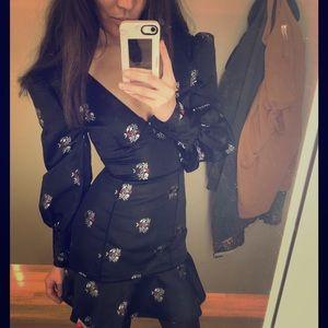 Joie Mina woven jacquard dress